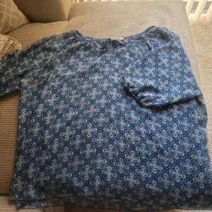 Womens Top Blue and Gray 3x